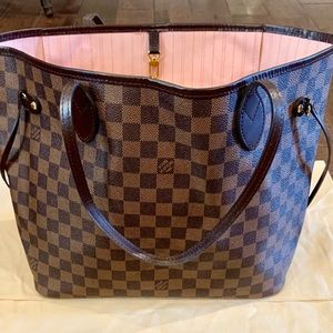 Louis Vuitton Neverfull MM Damier Ebene w/Pochette